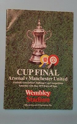 Arsenal v Manchester United 79 F A Cup Final programme