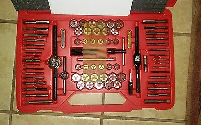 New TDTDM500A Snap On 76 Pc Tap & Die Set with Red Case #A