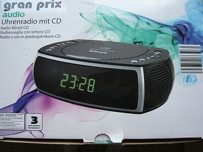 FM Stereo Radio Clock with / CD Player - Network Operation USB Charging Dock