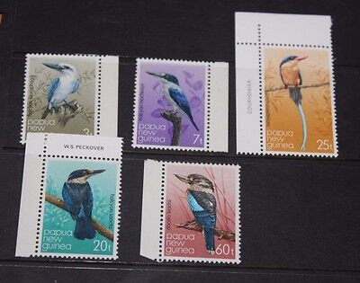 Papua New Guinea 1981 Birds Set Of 5 With Margins Very Fine M/n/h