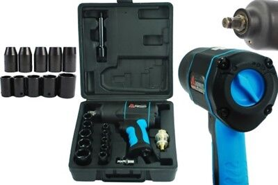 """VERY STRONG 1200Nm Max Air Impact Wrench 885 ft-lb 1/2"""" SQ Drive Truck Nut Wheel"""