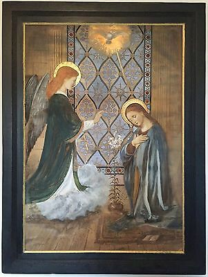 The Annunciation Antique 19th Century Northern European Painting
