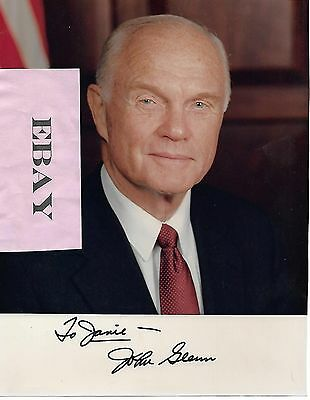 JOHN GLENN SIGNED 7 1/2 X 10 PHOTO SPACE ASTRONAUT SENATOR personalized