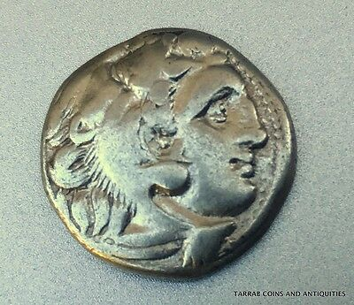Ancient Greek Silver Coin; Kings Of Macedon, Alexander The Great Iii 336-323 Bc!