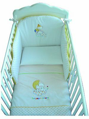 Italbaby 120.0028 Happy Colours Set Sfilabile per Lettino, Giallo (v4N)