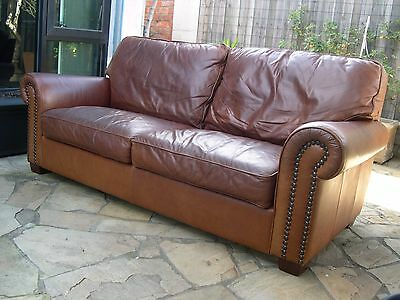 Leather Moran Brando - Chesterfield Style - 3 Seater Sofa Couch - Man Cave