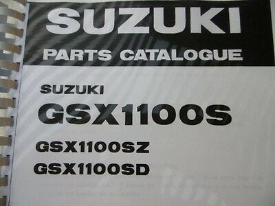 SUZUKI GSX 1100 S SZ SD Katana PARTS LIST MANUAL CATALOGUE 1983 1984 1985 1986