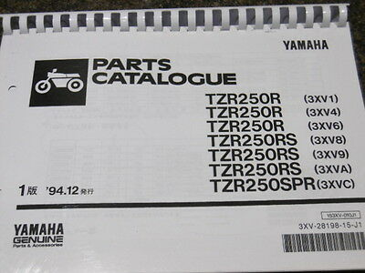 YAMAHA TZR 250 R RS SPR 3XV PARTS LIST MANUAL CATALOGUE Paper bound copy RD YPVS