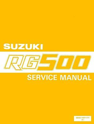 SUZUKI RG 500 WORKSHOP SERVICE MANUAL 500 GAMMA 230 PAGES papaer bound copy