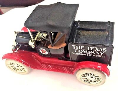 Texaco Diecast Bank 1918 Runabout ERTL Series Collector Ford Coin 1988 Die Cast