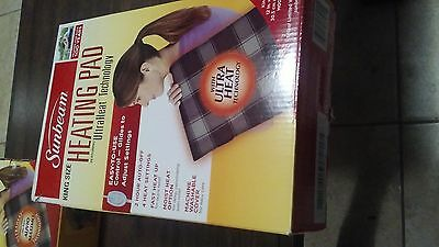 Sunbeam King Size Heating Pad Ultra Heat Technology Brand New In Open Box