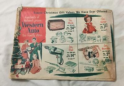VINTAGE EARLY1950's WESTERN AUTO CHRISTMAS CATALOG TOYS TV TOOLS  HOUSEHOLD ITEM