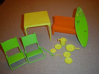 Vintage Mod Barbie's Beach Bus Accessories Lot