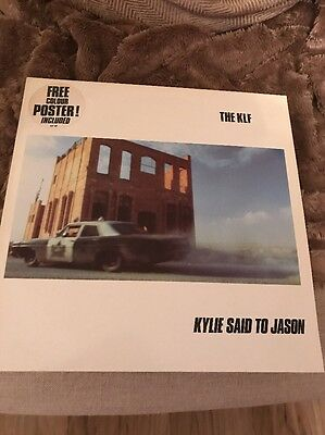 THE KLF kylie said to jason limited edition 12 inch single with POSTER