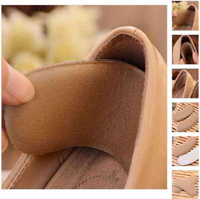 5 Pairs Sticky Fabric Shoe Pads Cushion Liner Grips Back Heel Inserts Insoles