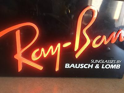 Ray-Ban Vintage Lighted Box Neon Sign From Bausch & Lomb Sunglasses Ray Ban