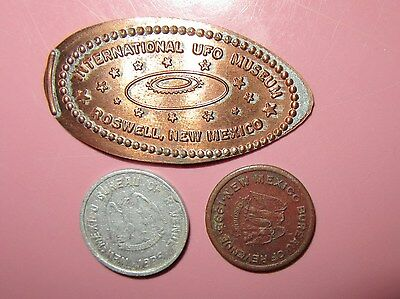 ~3~Vintage NEW MEXICO TOKEN 1935 Tax Revenue 1 Mill 5 Mills + Roswell UFO Penny