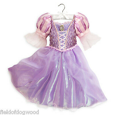 NWT Disney Store Rapunzel Costume Dress Tangled Princess Gown 7/8 9/10 Girl