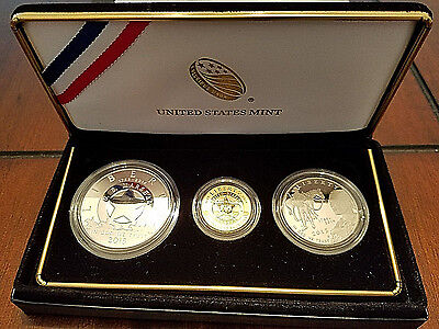 2015 U.S. Marshals Service 225th Anniversary 3 Coin Proof Set w/ ALL OGP & COA