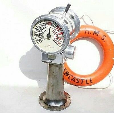 Rare Vintage Nautical Marine Aluminum Electrical Telegraph Japan Made 32 Kg