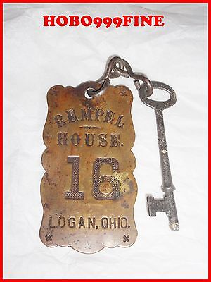 "Hocking Hills State Park "" REMPLE HOUSE"" ANTIQUE ROOM KEY LOGAN OHIO"