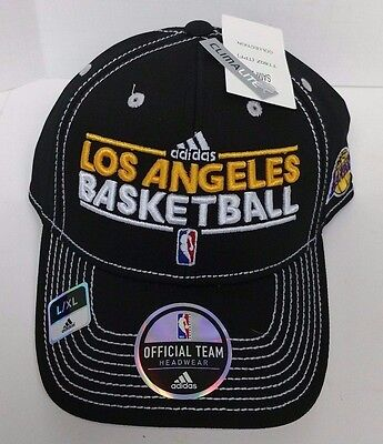 NEW Adidas Los Angeles Lakers Basketball Hat Official Team Headwear Size: L/XL