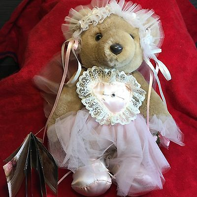 """Vintage Bearly People Prima Ballerina  14"""" Teddy Bear Made in USA - 1991"""
