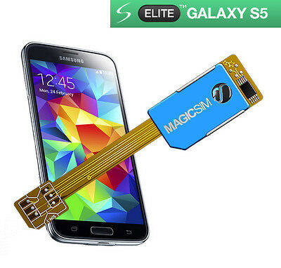 Dual SIM card adapter for Samsung Galaxy S5 - ELITE - NO CUTTING - 3G/UMTS - UK