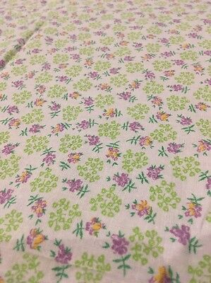 """Vintage Complete/ Full Feed sack Petite Print Floral Lilac Apple Green 36"""" X43"""""""