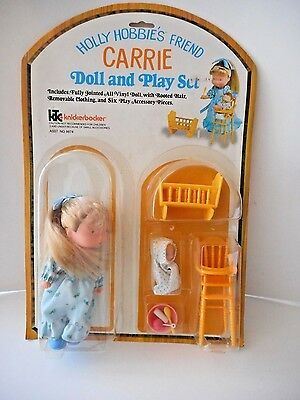 """Vintage Holly Hobbie """"carrie"""" Doll And Play Set  Mint Condition On Card"""