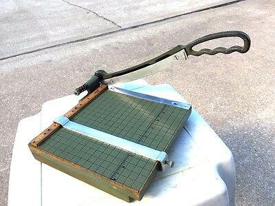 """Vintage Premier Heavy Duty Guillotine Photo Paper Cutter 9"""" x 9"""" Crafts,Office"""