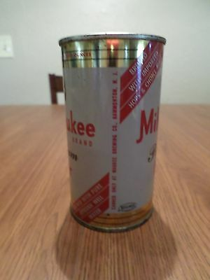 Vintage 1950's Rare Keglined Milwaukee Waukee Brewing Flat Top Beer Can Bank