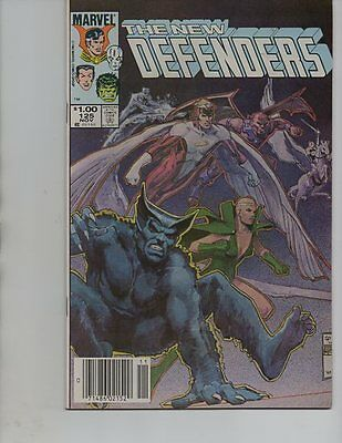 NEW DEFENDERS #125-  VALKYRIE / ICEMAN / ANGEL(marvel 1983)VF