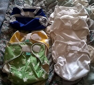 Baby beehind nappy covers, bulk lot of 4, size Large, and 2 Tots Bots covers