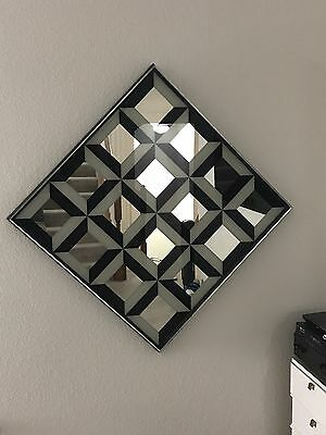 Antique Verner Panton Optical Illusion Diamond Mirror