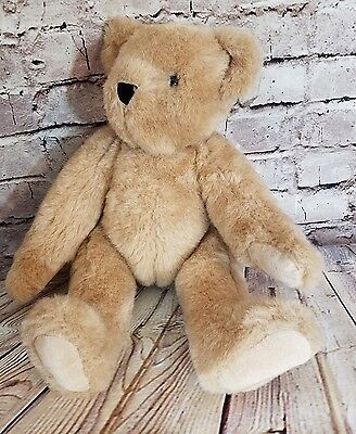 """Authentic Vermont Teddy Bear Classic Jointed Movable 16""""  Light Brown Posable"""