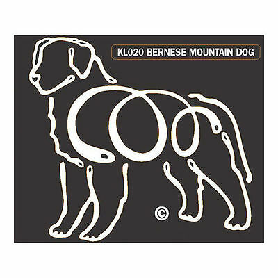 Bernese Mountain Dog K-Lines Dog Car Window Tattoo Decal Sticker