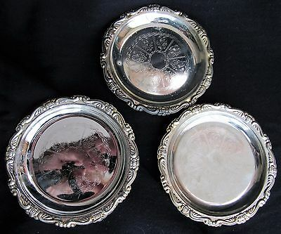 Vintage Silver Plated Ep (Electro Plate) Steel Vintage Drink Coasters (3) Italy