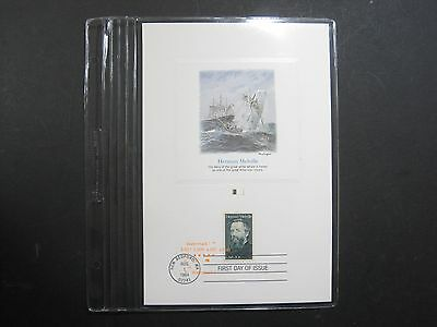 Proofcard FDC First Day Issue Cachet Stamp #A Herman Melville White Whale Novel