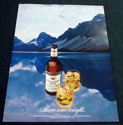 1980 Canadian Mist large print ad Canada at its Best - beautiful scenery, lake