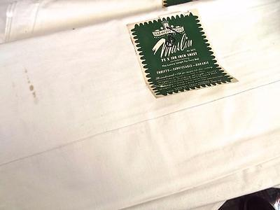 Unused Antique 1930s Harmony House Muslin Flat Twin Sheet 72x108 Cotton Fabric