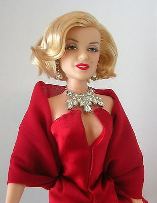 MARILYN MONROE Wearing A Ruby Red Charmeuse & Chiffon GLAMOUR GOWN FREE SHPG!