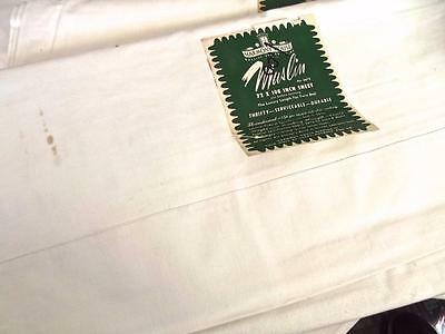 Unused Antique '30s Harmony House Muslin Flat Twin Sheet 72x108 Cotton Panel