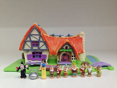 POLLY POCKET DISNEY Light UP Snow White & The Seven Dwarf *COMPLETE*