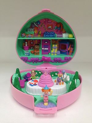 POLLY POCKET 1992 Partytime Party Time Birthday Stamper *RARE & COMPLETE*