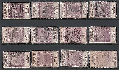 Western Australia internal revenue used (12 stamps)