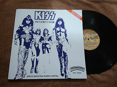 """Kiss """"destroyer"""" Mexico Promotional Vinyl Mexican Radio Station"""