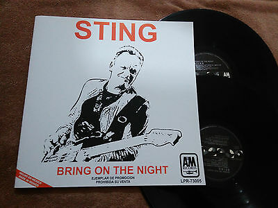 """Sting """"bring On The Night"""" Mexico Promotional Vinyl Mexican Radio The Police"""