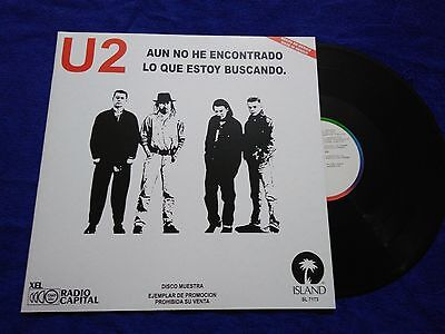"""U2 """"i Still Havent Found"""" Mexico Promo Extremely Rare Ps Mexican Issue Rare!"""