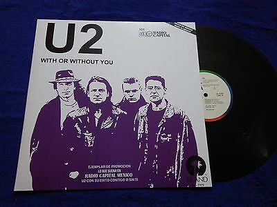 """U2 """"with Or Without You"""" Mexico Promo Extremely Rare Ps Mexican Issue Rare!"""